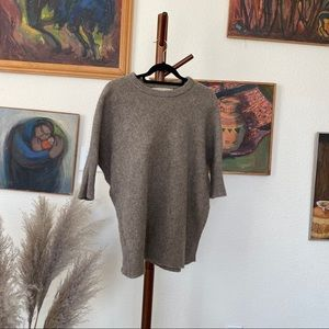 Max Studio Wool Poncho Fitting Sweater